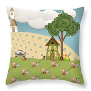 Home On Sunday  Throw Pillow