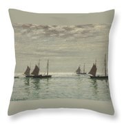 Home On The Morning Tide Throw Pillow