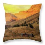 Home On The Range In Antelope Oregon Throw Pillow