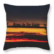 Home On The Range - Wyoming Ranch  Throw Pillow