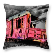 Home Pink Home Black And White Throw Pillow