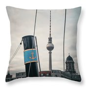 Home Port Berlin Throw Pillow