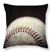 Home Run Ball Throw Pillow by Lisa Russo