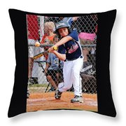 Home Run In The Making Throw Pillow