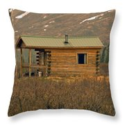 Home Sweet Fishing Home In Alaska Throw Pillow