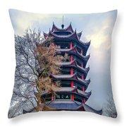 Wuyun Tower Throw Pillow