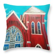 Home Town Church Throw Pillow