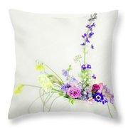 Homegrown Floral Bouquet Throw Pillow