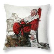 Homeless Santa Throw Pillow