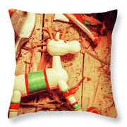 Homemade Christmas Toy Throw Pillow