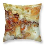 Homemade Lasagna Throw Pillow