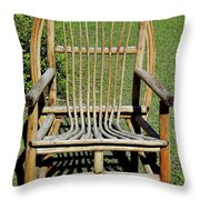 Homemade Lawn Chair Throw Pillow