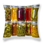 Homemade Preserves And Pickles Throw Pillow