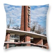 Homer Hamilton Theatre Sign Throw Pillow