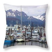 Homer Harbor Throw Pillow