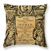 Homer Title Page, 1616 Throw Pillow