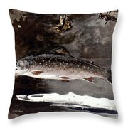 Homer: Trout, 1889 Throw Pillow