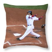 Homerun Swing Throw Pillow