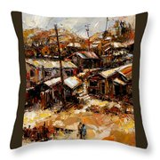 Homes In The Hills  Chaves Revine Throw Pillow