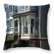 Homes Of San Francisco Throw Pillow