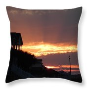 Homes Of Sea Bright  Throw Pillow