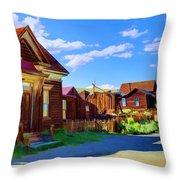 Homes Of The Past Throw Pillow