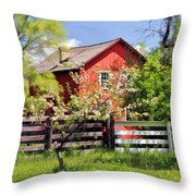 Homestead At Old World Wisconsin Throw Pillow