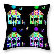 Homestead Happiness Throw Pillow