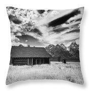 Homestead Mormon Row Throw Pillow