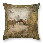 Homestead Of Old Throw Pillow