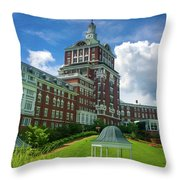 Homestead Omni Hotel Throw Pillow