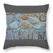 Homestead Stonework Throw Pillow