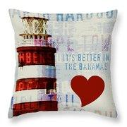 Hometown Bahamas Lighthouse Throw Pillow
