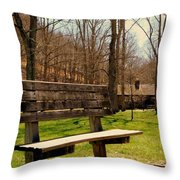 Hometown Series - Have A Seat Throw Pillow