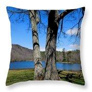 Hometown Series -sherando Lake Throw Pillow