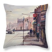 Hometown Shadows Throw Pillow