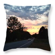 Homeward Bound Evening Sky Throw Pillow