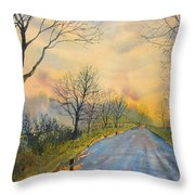 Homeward Bound For Kilham Throw Pillow