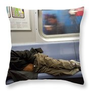 Homeless In Motion Throw Pillow