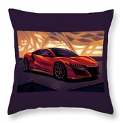 Honda Acura Nsx 2016 Mixed Media Throw Pillow