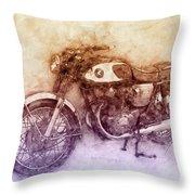 Honda Cb77 - Honda Motorcycles 2 - Motorcycle Poster - Automotive Art Throw Pillow
