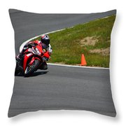 Honda Takes Turn 1 No 2 Throw Pillow