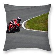 Honda Takes Turn 11 No 1 Throw Pillow