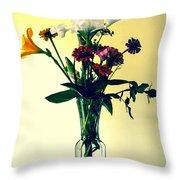 Honey Creek Flowers Throw Pillow by Tom Zukauskas