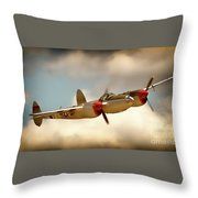 Honey Dancin P-38 Lightning Throw Pillow