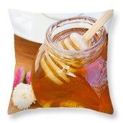 Honey Jar Throw Pillow