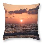 Honey Moon Island Sunset Throw Pillow