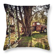 Honey, Under The Cedar Tree Throw Pillow