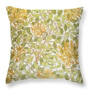 Honeysuckle Design Throw Pillow