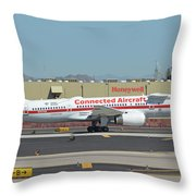 Honeywell Boeing 757-225 N757hw Phoenix Sky Harbor September 30 2017 Throw Pillow